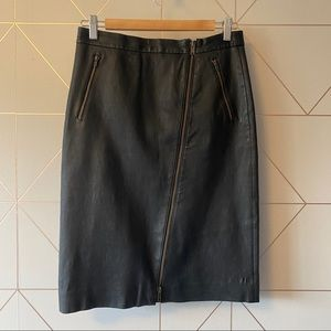 J. Crew Collection Leather Pencil Skirt